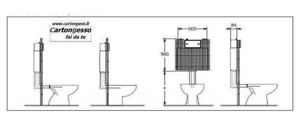 Cassetta incasso a montaggio rapido 2 volumi di risciacquo per vaso - Schema