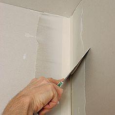 stuccatura degli angoli interni del cartongesso